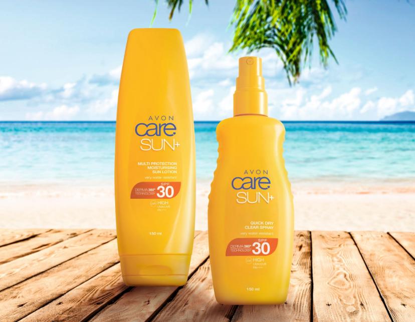 AVON Care Sonnencreme und transparentes Sonnenschutzspray