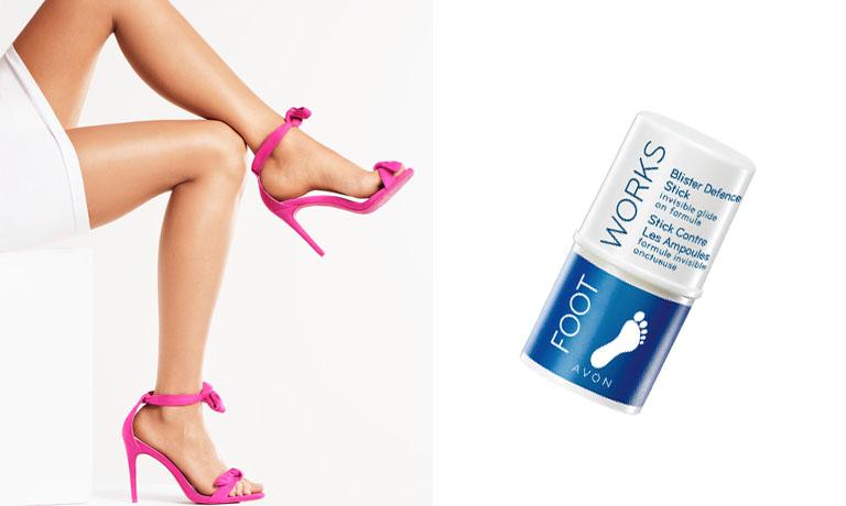 Anti-Blasenstift verhindert das Aufreiben der Füße in Sandalen, High Heels oder Sport- und Wanderschuhen