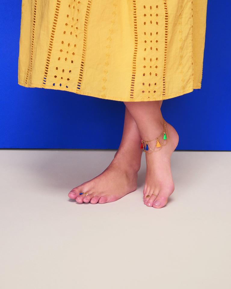 Fußschmuck ist der Hingucker im Sommer für schöne Füße. Fußkettchen und Zehenringe machen gute Laune und sind perfekt für Strand und Freizeit.