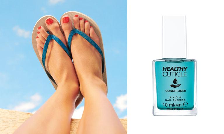 Gepflegte Nagelhaut ist für das Erscheinungsbild von schönen Füßen wichtig. So kann der Nagellack ebenmäßig aufgetragen werden.