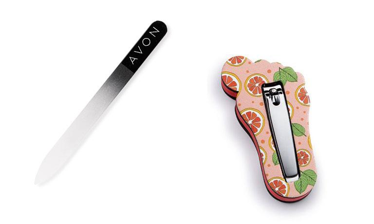 Nagelfeile und Nagelknipser zum effizienten Kürzen der Fußnägel für gepflegte, schöne Füße