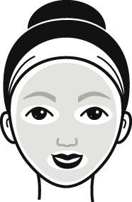 Einteilige Gesichtsmaske