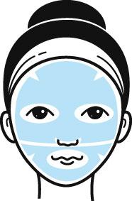 Zweiteilige Hydrogel-Maske