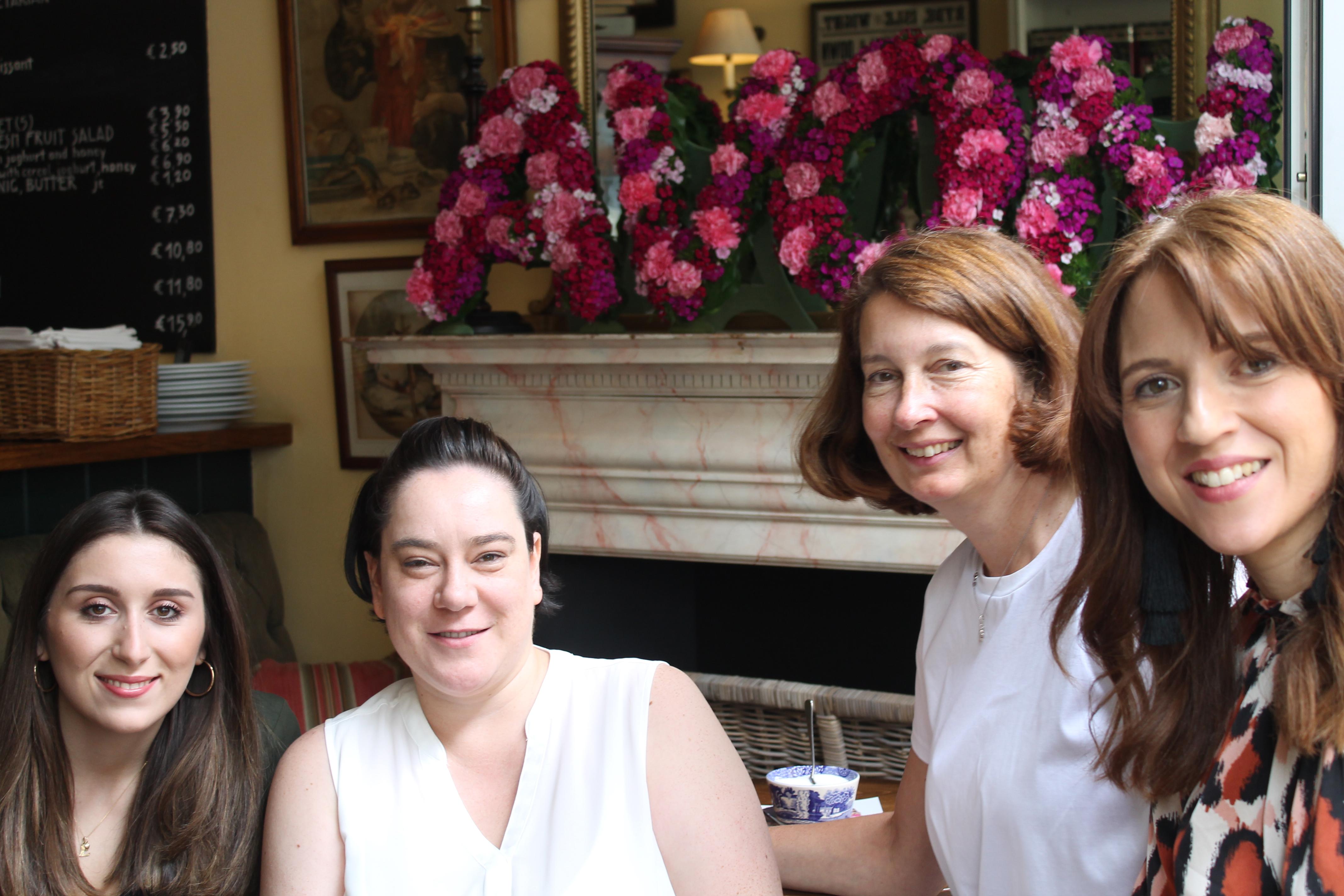 PR Team: Lina, Caro (Rouge PR), Annette und Manuela (v.l.n.r.)