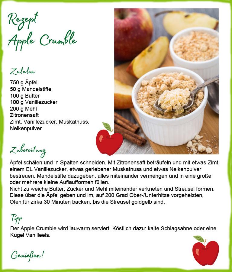 Ein Apfel ist gesund und lecker - egal ob roh oder verarbeitet