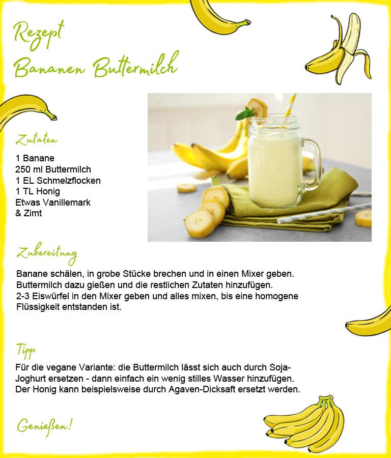 Rezept-Bananen-Buttermilch - Essen für die Schönheit