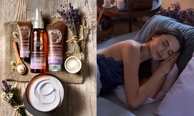 Erholsamer Schlaf mit der Aromatherapie Linie von Planet Spa