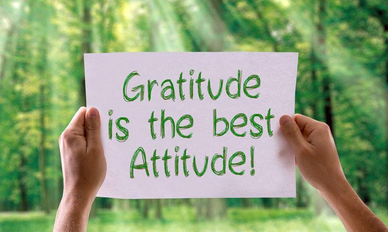 Dankbarkeit ist die beste Einstellung - und macht glücklich!
