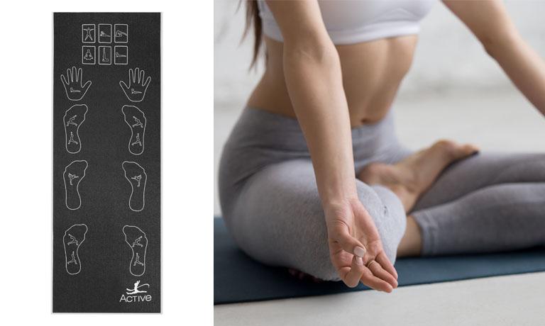 Die Yoga-Matte Bamboo mit neutralisierender Bambuskohle ist die perfekte Unterlage für alle Yoga- und auch Atemübungen
