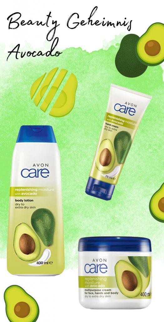 Produkte aus der AVON Care Avocado Linie