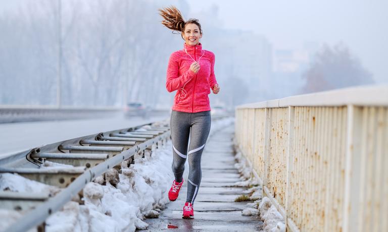Sport ist Teil der Glücksstrategien für einen gesunden Körper