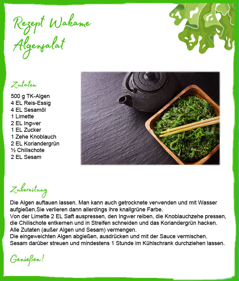 Beauty Food Algen - hier als Wakame Salat