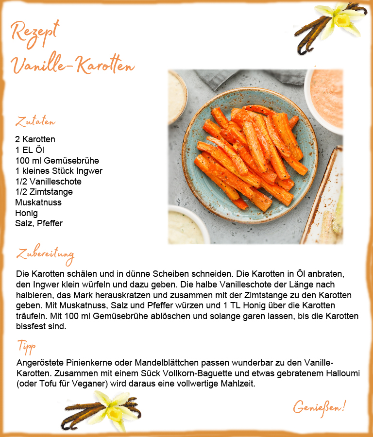 Beauty Food Gewürze: hier in Vanille-Karotten