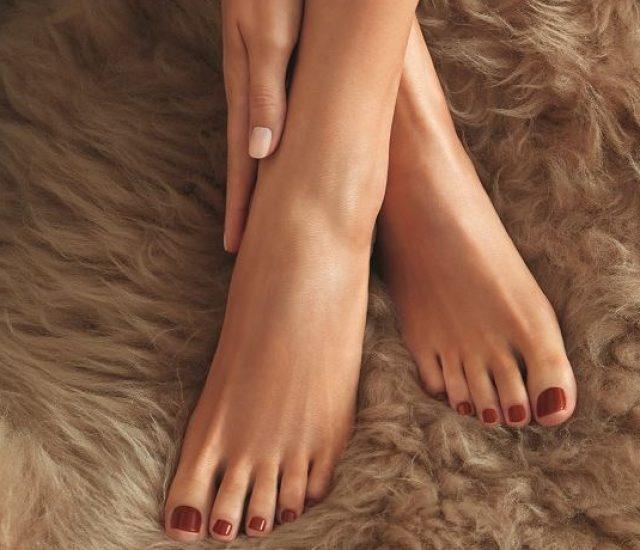 Hände und Füße Abendritual